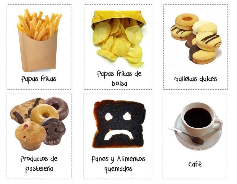 como se forma la acrilamida en los alimentos